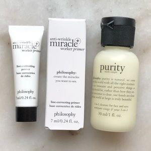 NWT Philosophy Cleanser + Line Correcting Primer